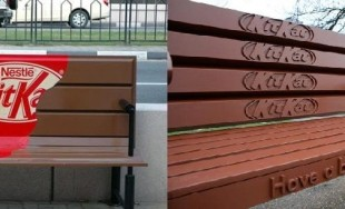 Kit Kat banc have a break ambient marketing